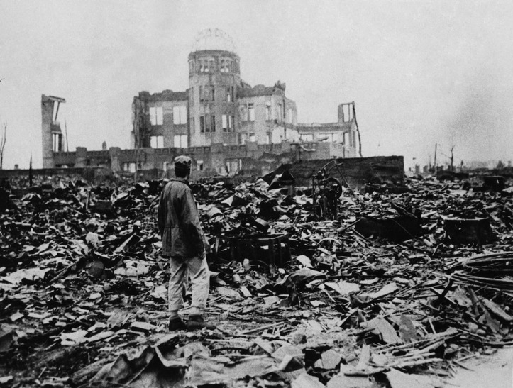 Hiroshima after atom bomb explosion 1945